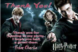 Personalised Harry Potter Thank You Cards